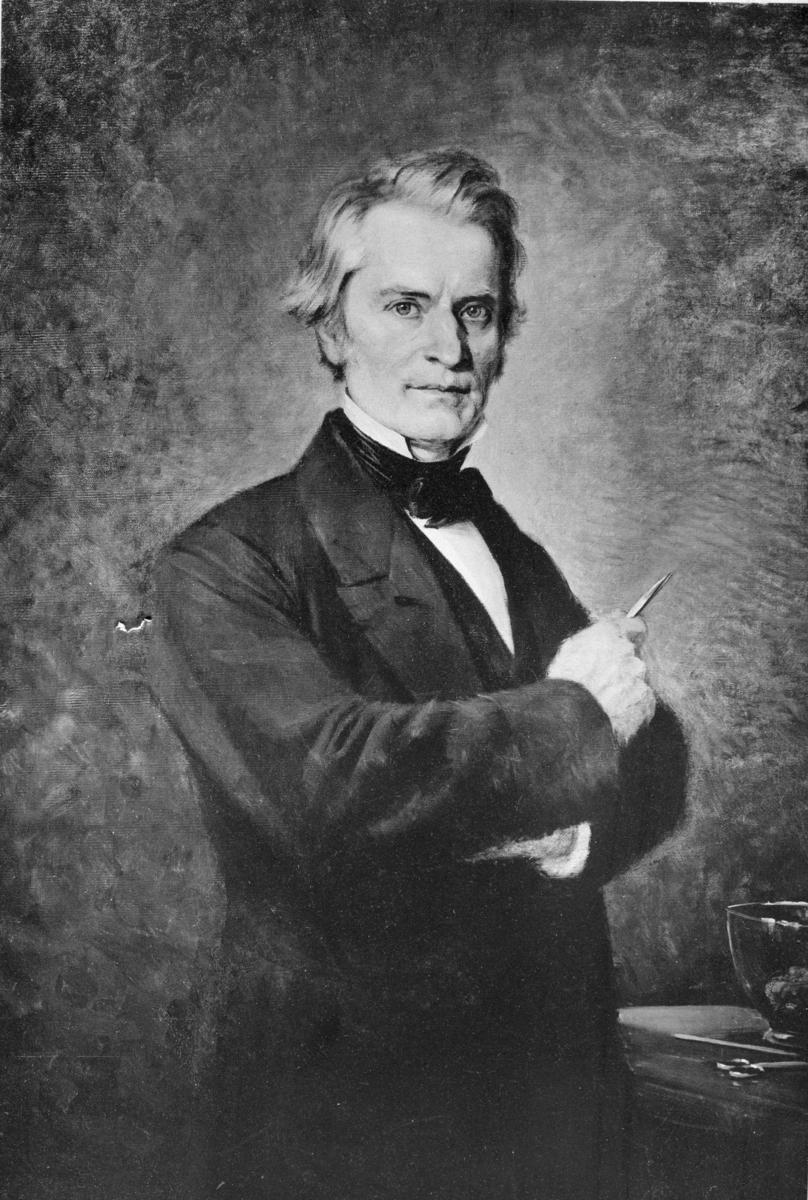 'Porträtt av Anders Adolf Retsius :: Text på baksidan: Anders Adolf Retsius född 1796-10-13, död 1860-04-18. Fader till Gustaf Retsius. ::  :: Ingår i serie med fotonr. 7044:1-15 med porträtt.'