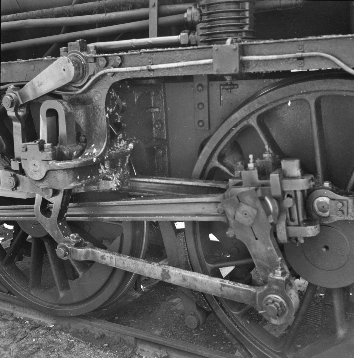 Detalj på damplokomotiv 21e nr. 207.