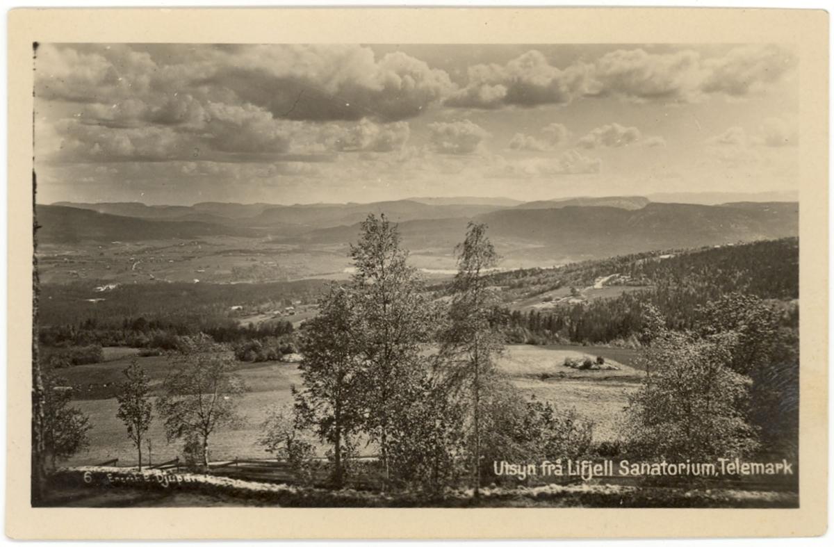 Utsyn mot Nome, frå Lifjell Sanatorium
