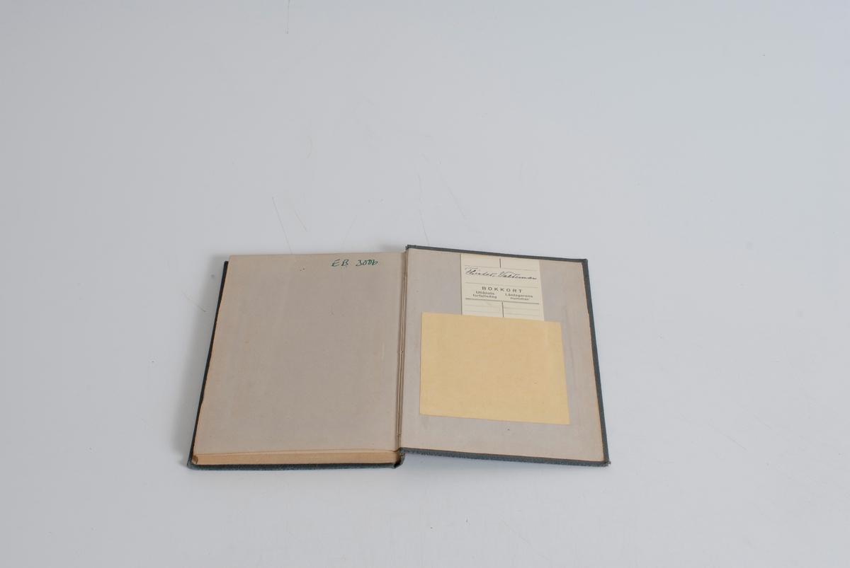 Vinranker på front og rygg, samt bord av d.o. på baksiden. Boken har 168 sider.