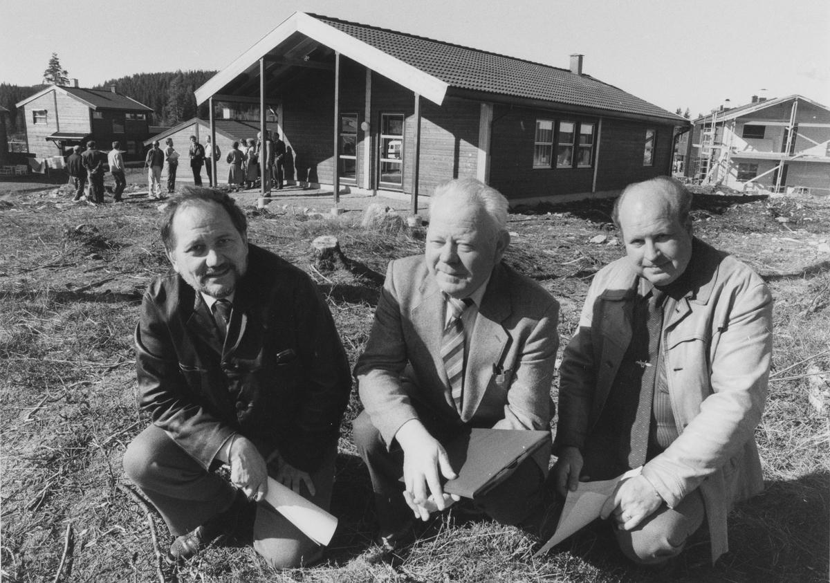 "Brennakollen, nytt boligområde i ""nye"" Skytta, sto ferdig omkring 1988.  Bygget av Nit-Bo (Nittedal boligbyggelag)"