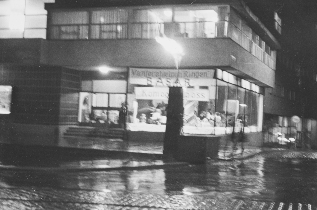 Fra Stortingsgaten-Munkedamsveien ved natt.