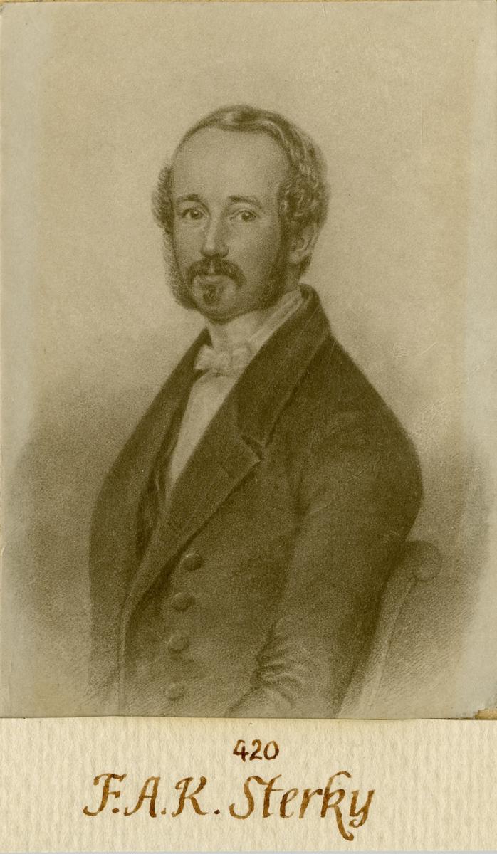 Porträtt av Fredrik August Sterky, underlöjtnant vid Andra livgardet I 2.