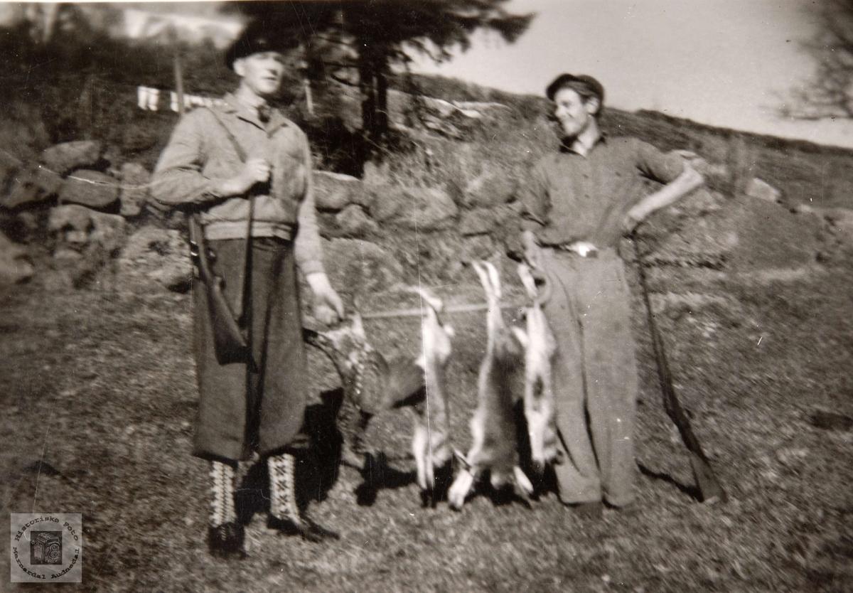 Brødrene Hægeland fra Konsmo på jakt