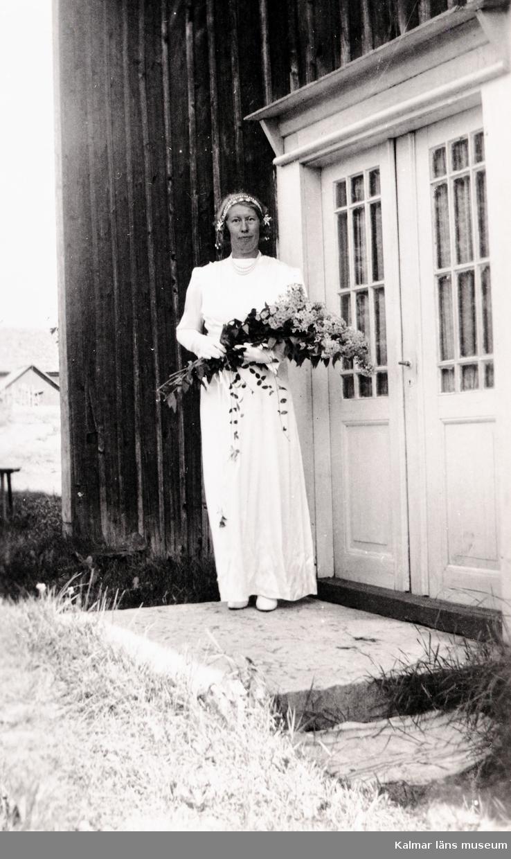 """Kalmar Läns Museum.                      Utställningsdokumentation """"Olga från Gammalnäs som for till Amerika"""" 12/5 1996."""