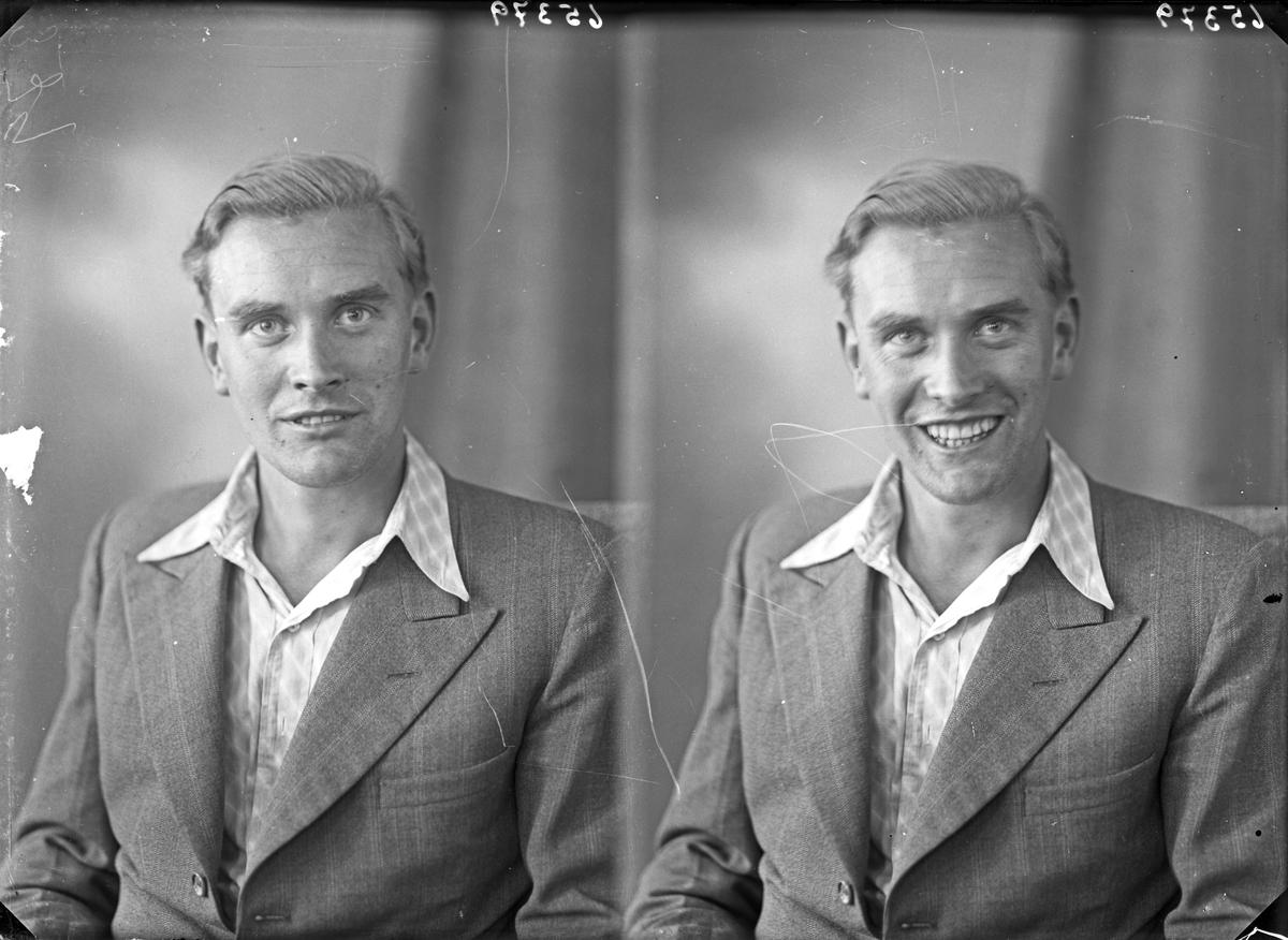Portrett. Ung mann. Bestillt av Bjarne Sannes.