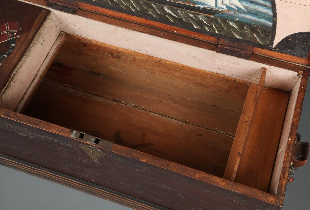 Kistemaleri under lokket.