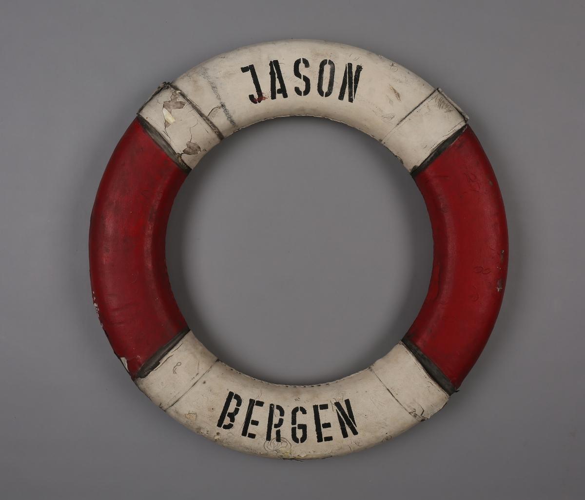 Rund livbøye merket JASON Bergen