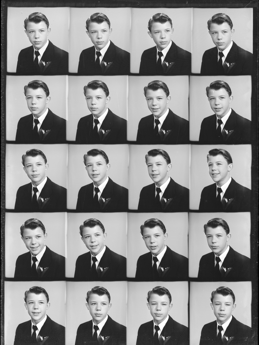 Konfirmanden Lars Andersson. Foto i maj 1950.