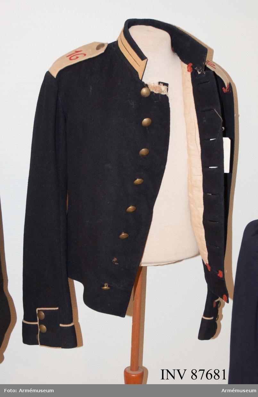 Grupp C I. Vapenrock för manskap vid indelta infanteriet m/1891.