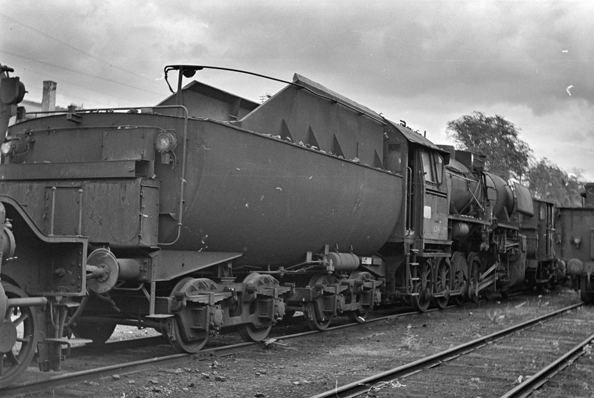 Damplokomotiv type 63a nr. 6204, hensatt i Lodalen i Oslo.