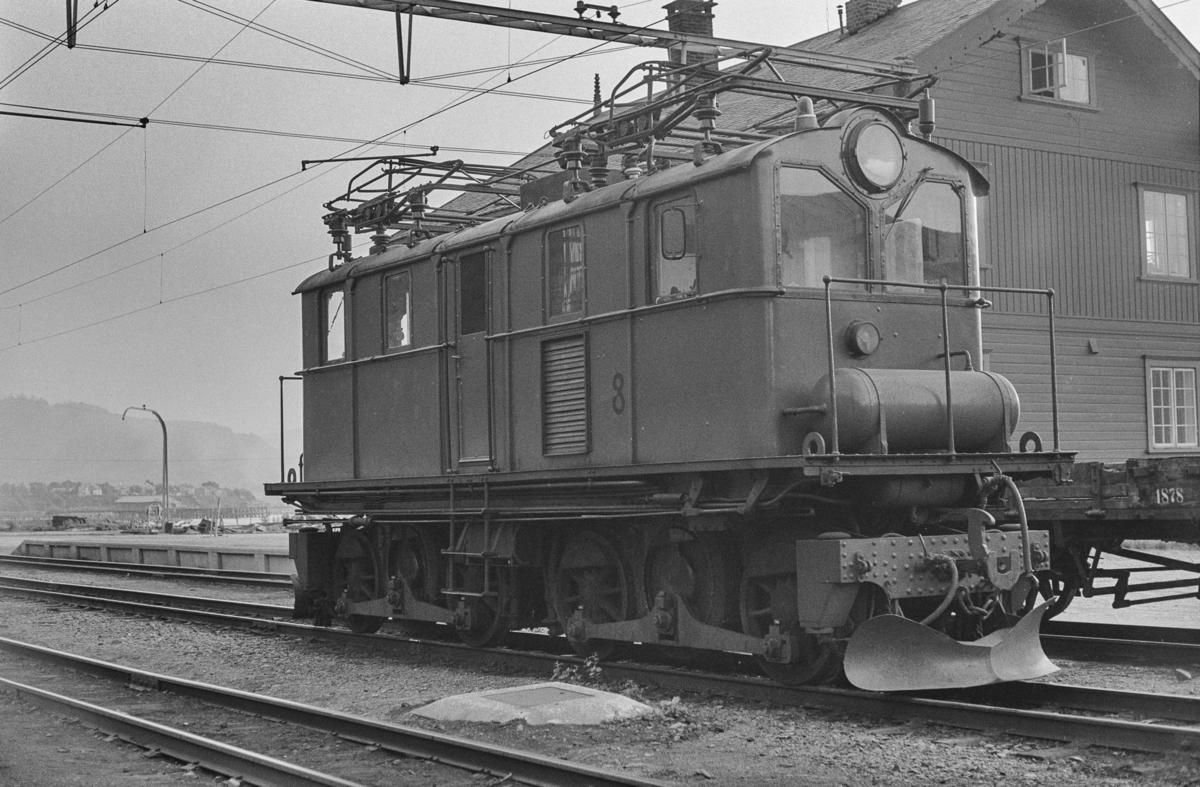 Thamshavnbanens elektriske lokomotiv nr. 8.