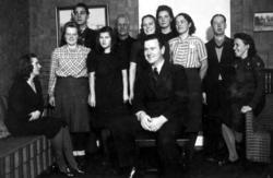 Bograngens sångkör: Fr.v Märta Westling, Ingrid Stenström, H