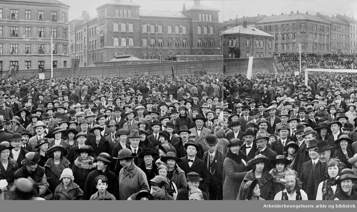 Fra 1. mai 1926 på Dæhlenengen stadion.