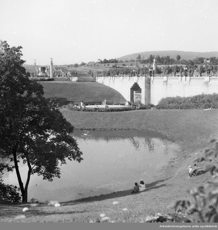 Frognerparken. Juli 1947