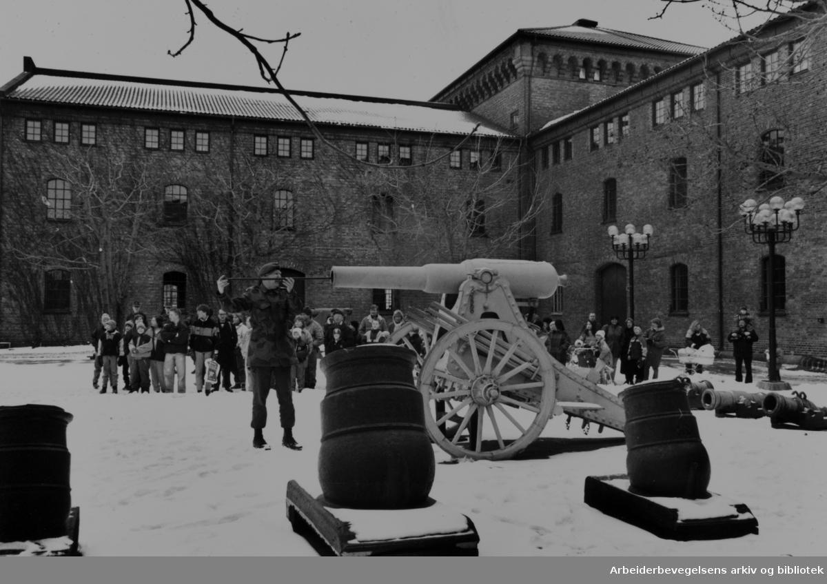 Akershus Festning, Forsvarsmuseet. Februar 1991