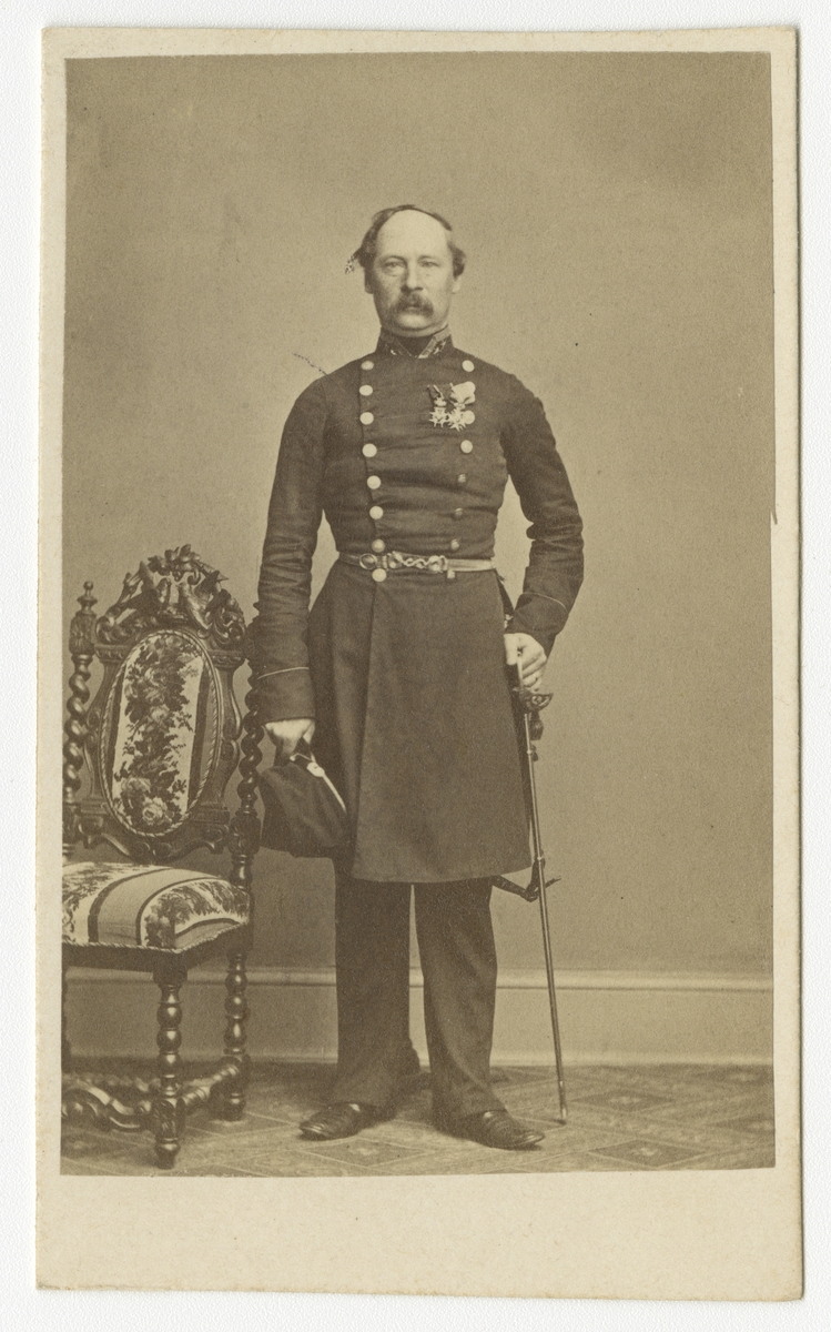 Porträtt av Erik Fredrik Wrangel, överstelöjtnant vid Västgöta regemente I 6.