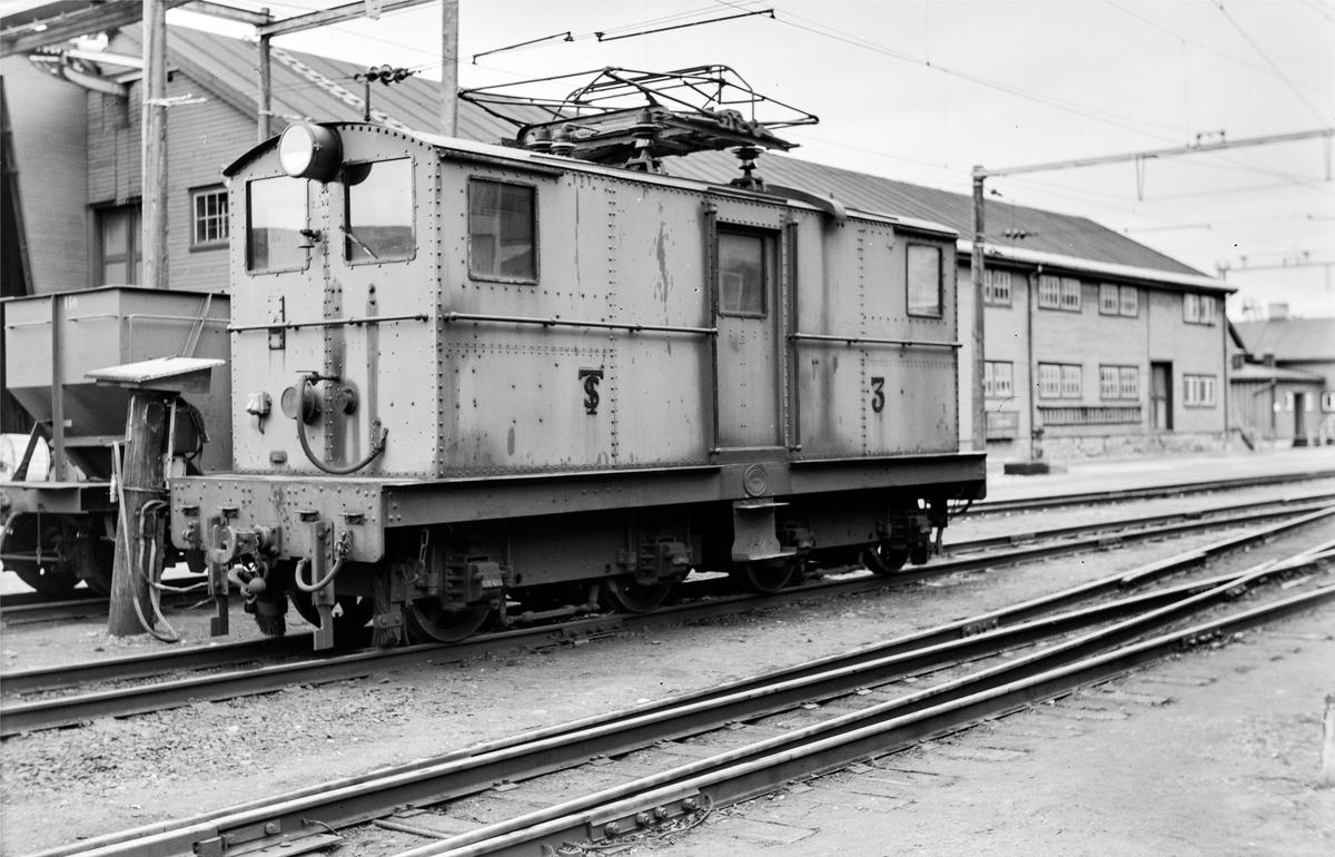 Thamshavnbanens elektriske lokomotiv nr. 3.