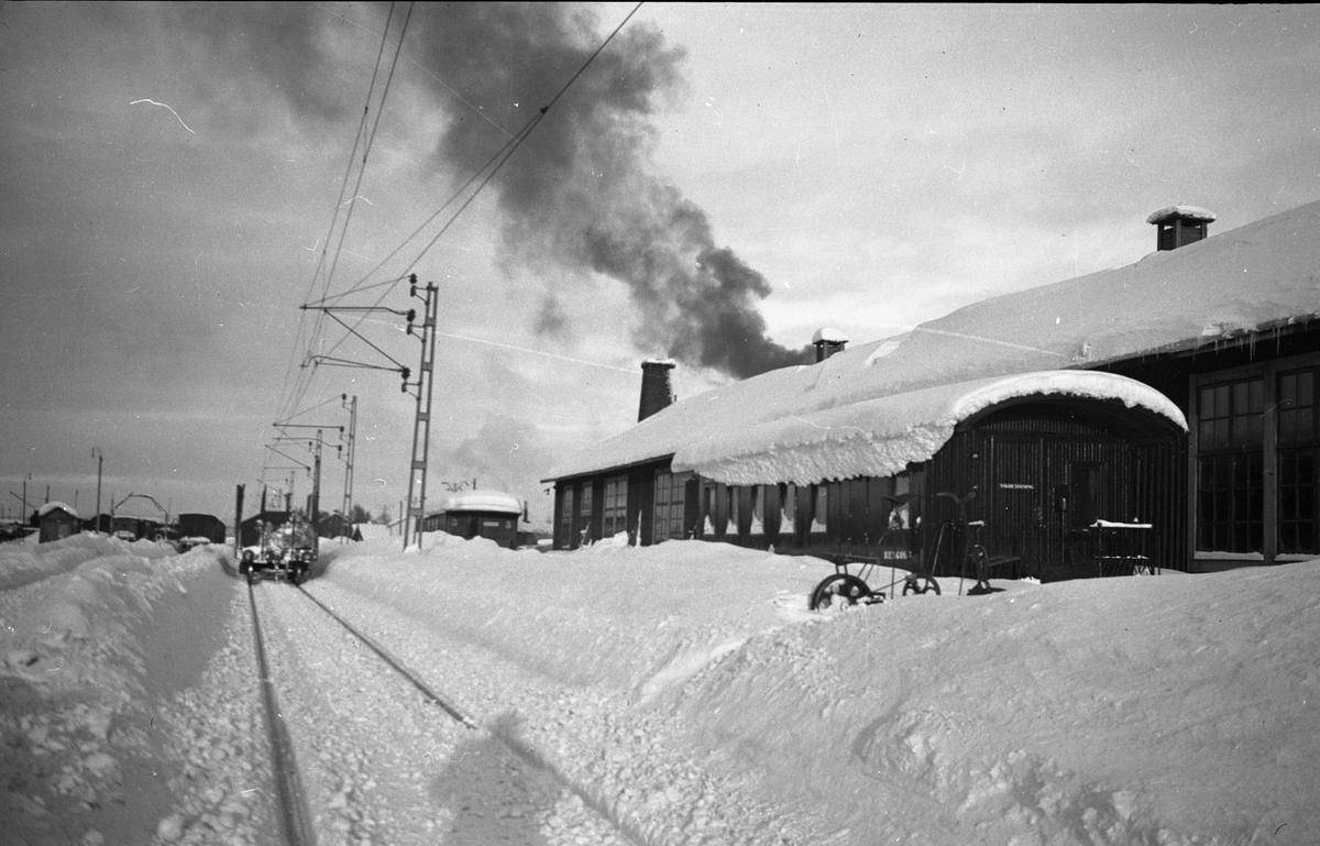 Vinterbild från Boden central.
