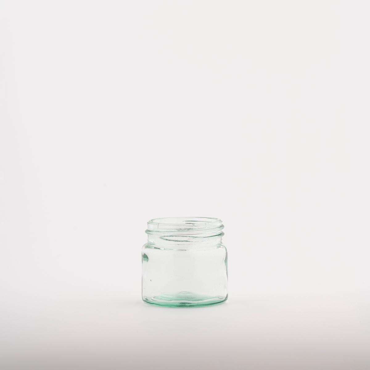 Lite glass med rund grunnflate.