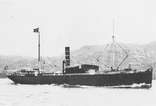 Motivet viser DS JUPITER (bygget 1856) til sjøs. Skipet har vimpel fra BDS og fører postflagg.