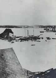 Krossen, sett mot nordvest, ca. 1870.
