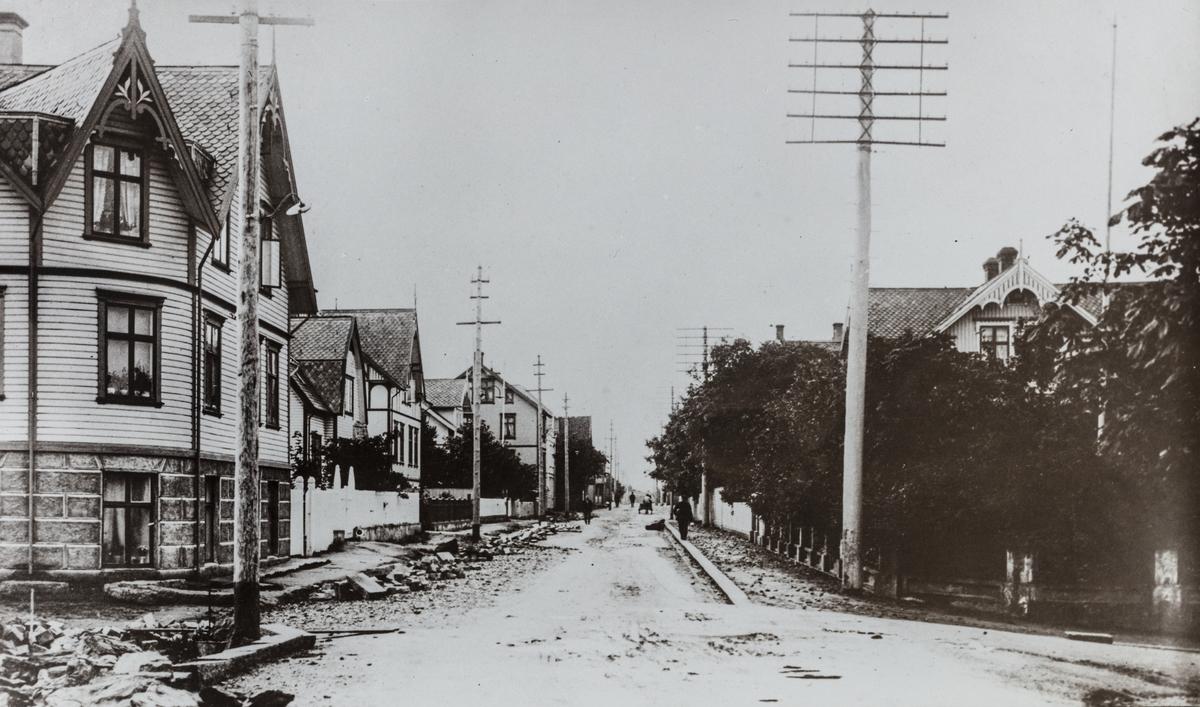 Haraldsgata sett mot syd, ca. 1910.
