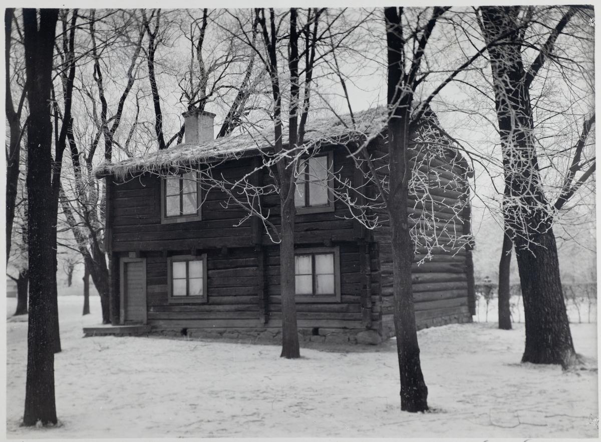 Borgarstugan. Bilden är troligen tagen år 1924.