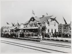 Invigning av Örebro Södra järnvägsstation.