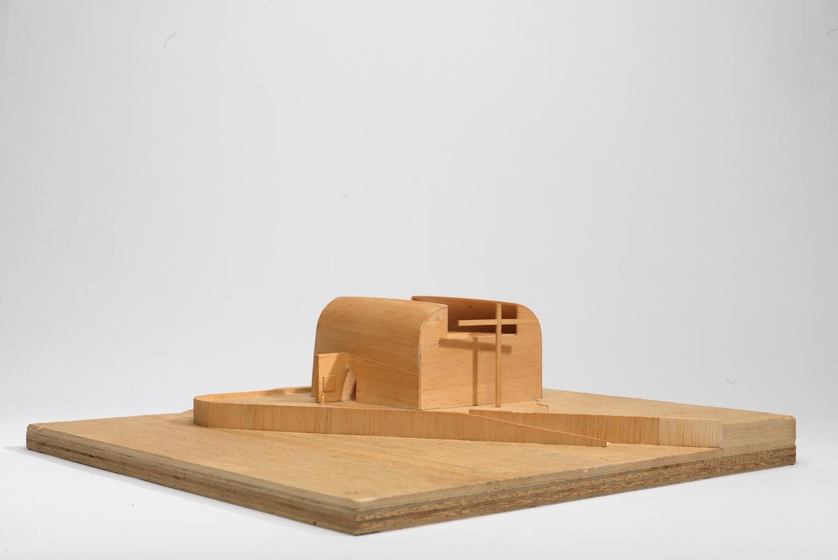 Utkast til kirke i Nordkapp [Arkitektonisk modell]