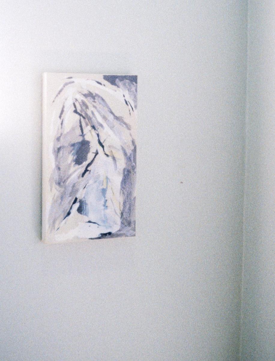 Del av utsmykking som består av 7 malerier i ulike formater.