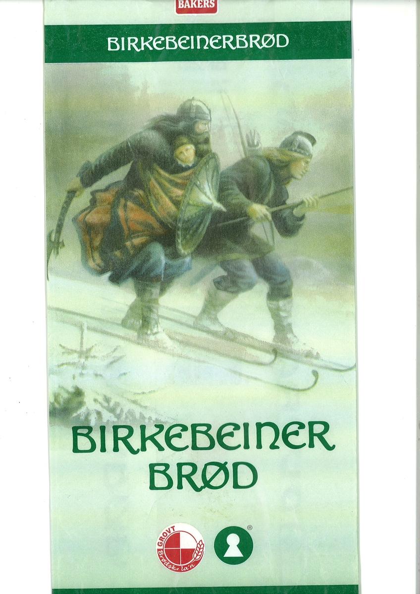 Motivet på brødposen er maleriet Birkebeinerne av Knud Bergslien fra 1869 som viser birkebeinerne Torstein Skevla og Skjervald Skrukka som frakter den vesle Håkon Håkonsson til Nidaros i 1206.