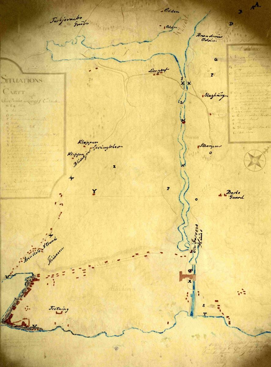 Kart over Arendal og Langsæ