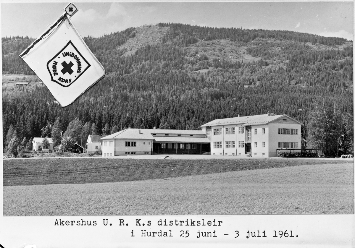 Akershus U R K's (Ungdommens Røde Kors) distriktsleir i Hurdal 25 juni – 3. juli 1961.