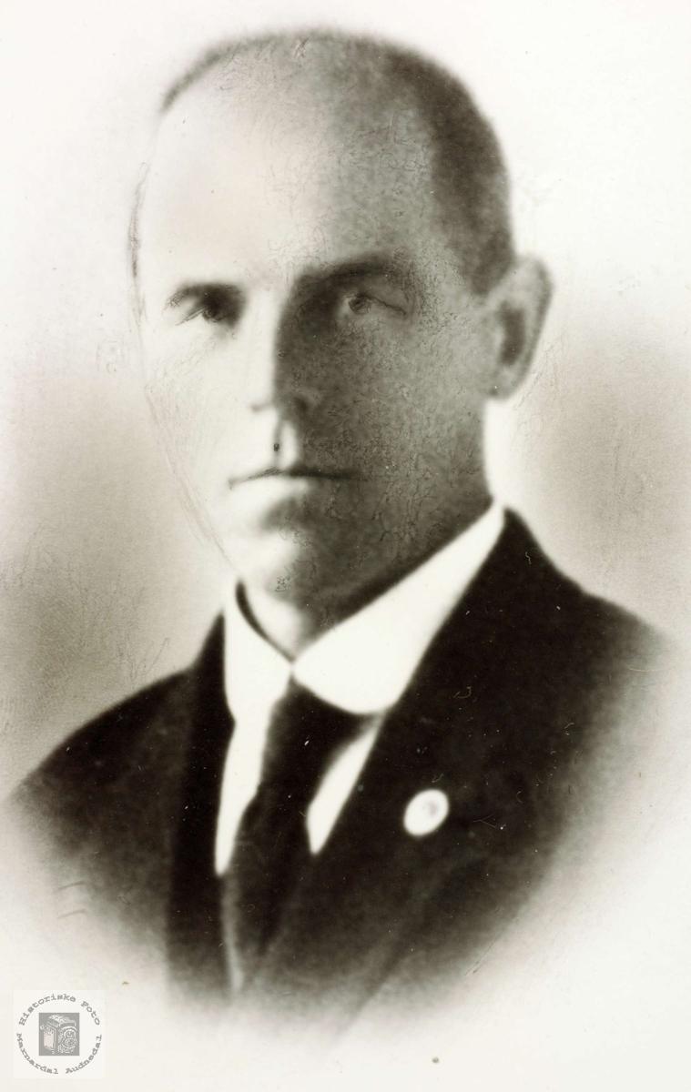 Portrett av Torjus Øydna. Grindheim Audnedal.