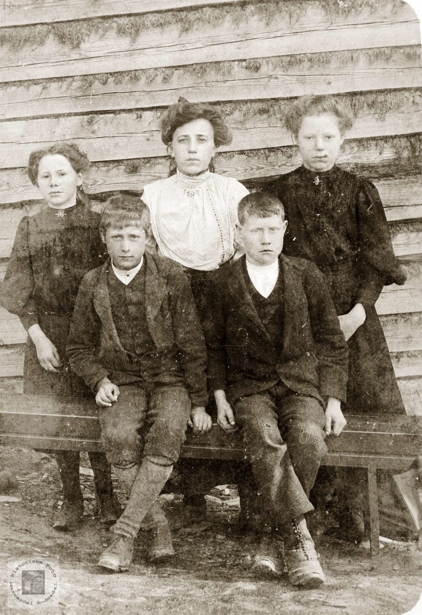 Portrett av barn fra Seland, Røynesdal og Leland. Grindheim.