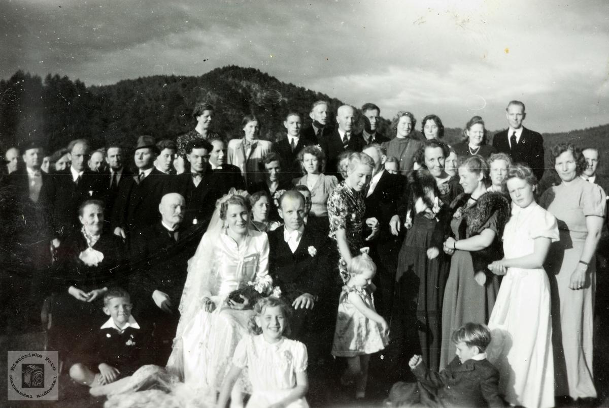 Bryllupsfest på Øvre Øydna. Grindheim.