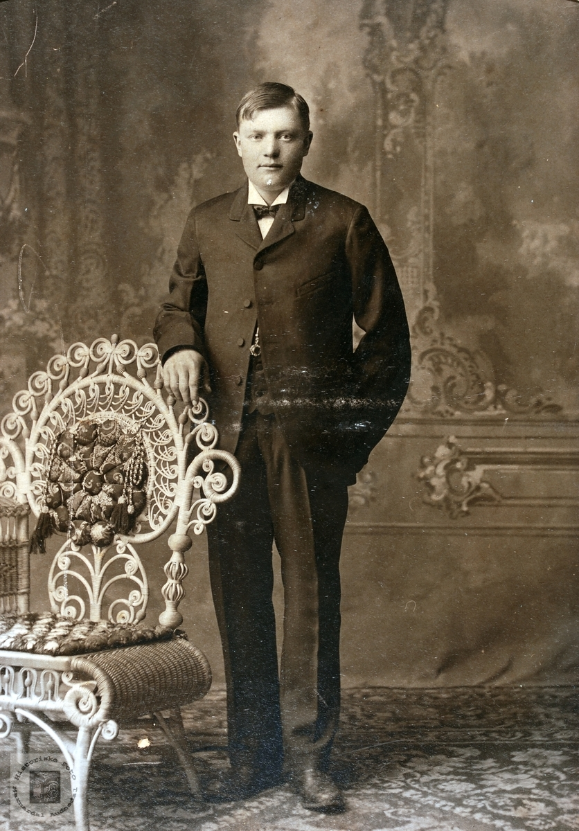 Portrett av Jens Øydna. Grindheim.