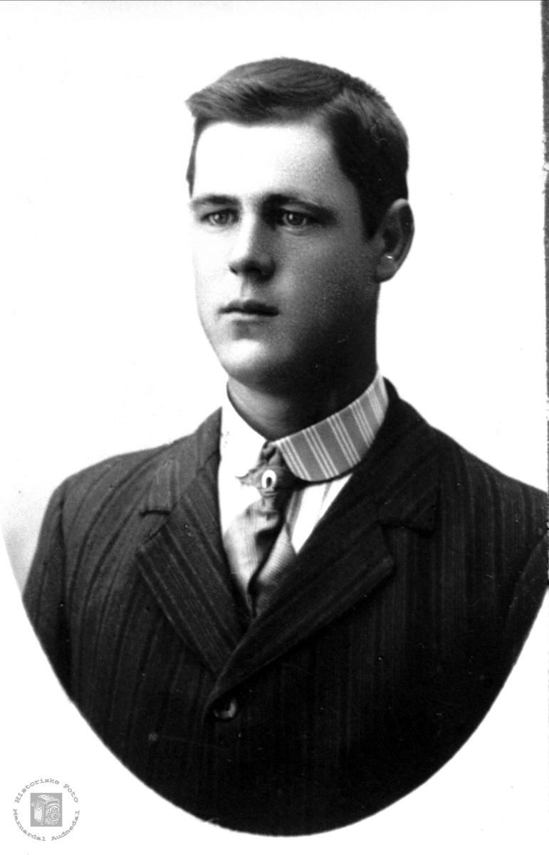 Portrett av Jens O. Roland, Bjelland.