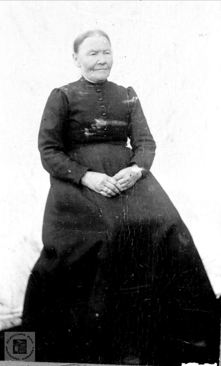 Portrett av Ingeborg Skjeggestad, Bjelland.