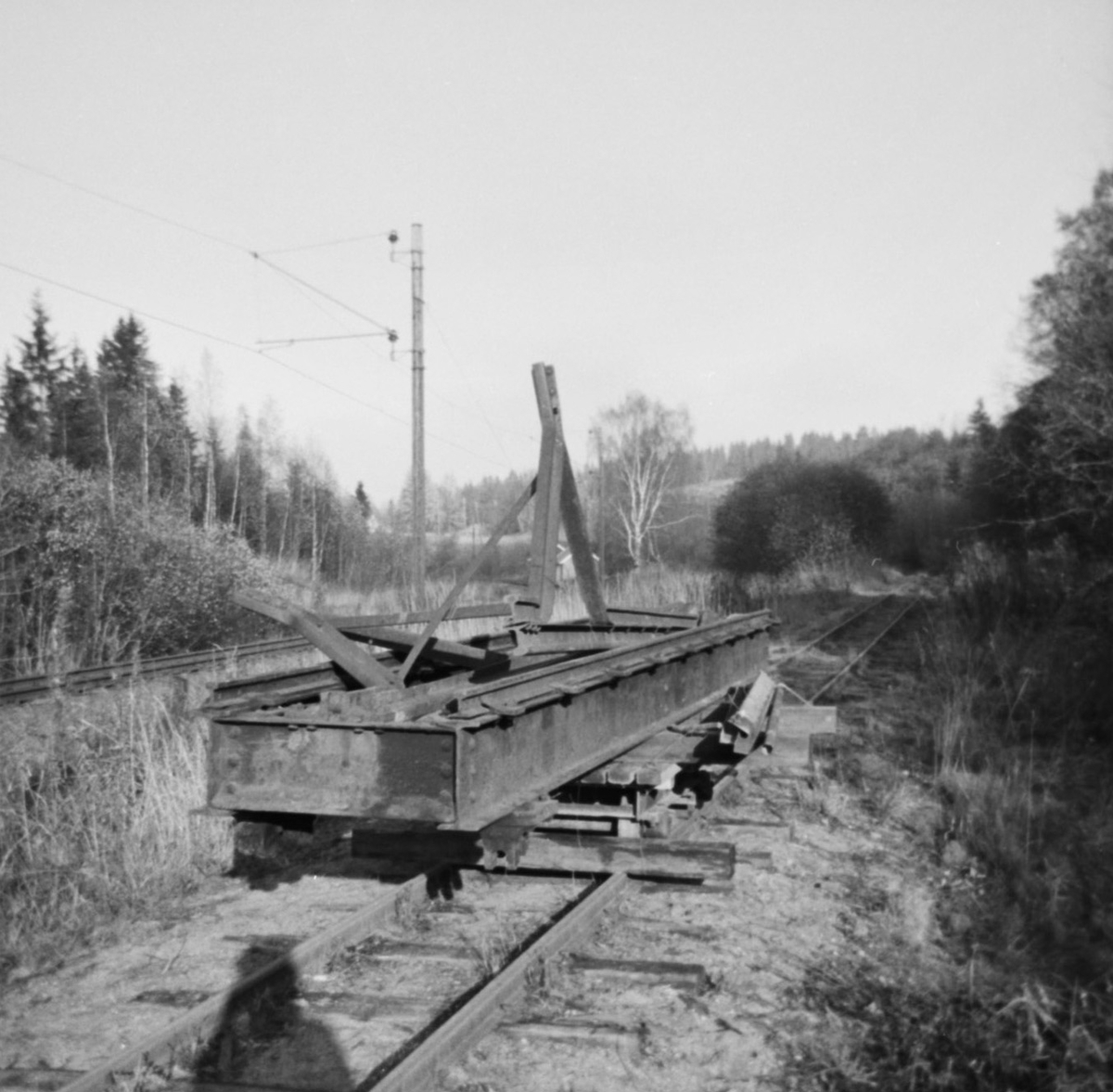 Svingskiven fra Skulerud på museumsbanens fremtidige stasjon Bingsfoss.