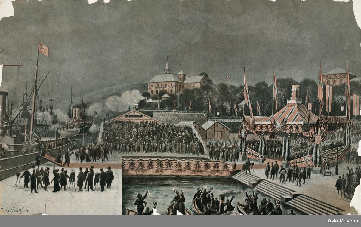 Haakon VII's landstigning i Kristiania 25.11.1905