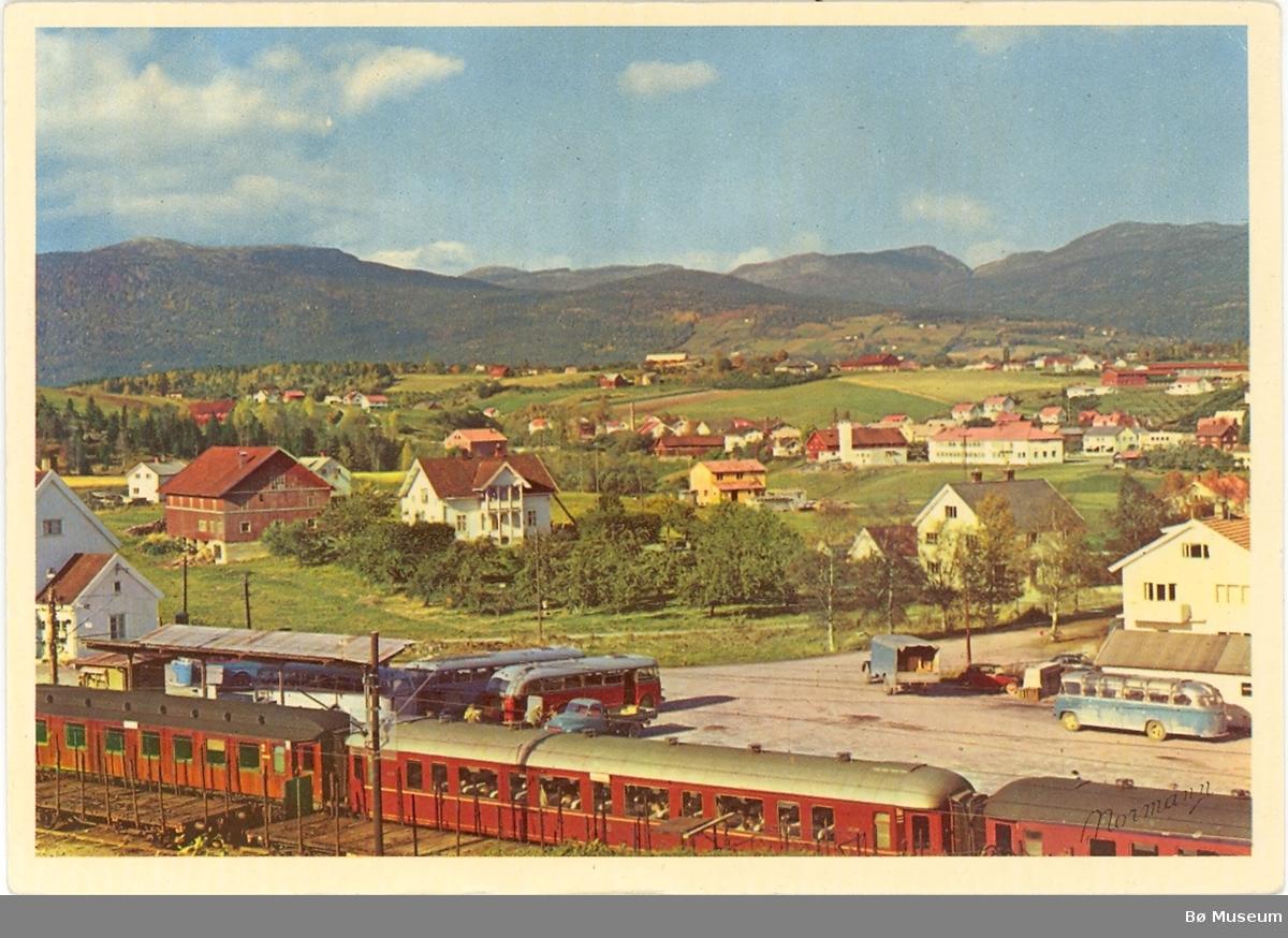 Bø i Telemark, jernbane og sentrum