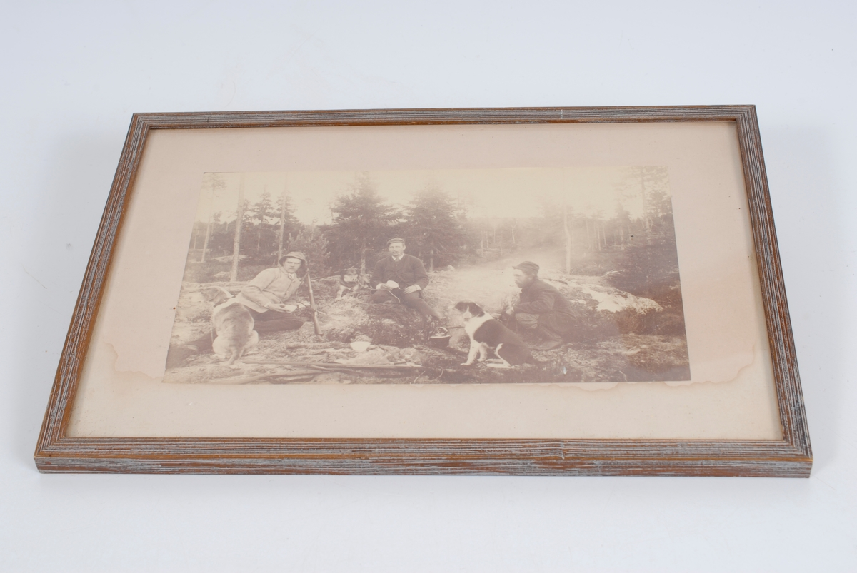 *23 Jaktparti, Eidsvold ca. 1885 m. jegere og hunder.