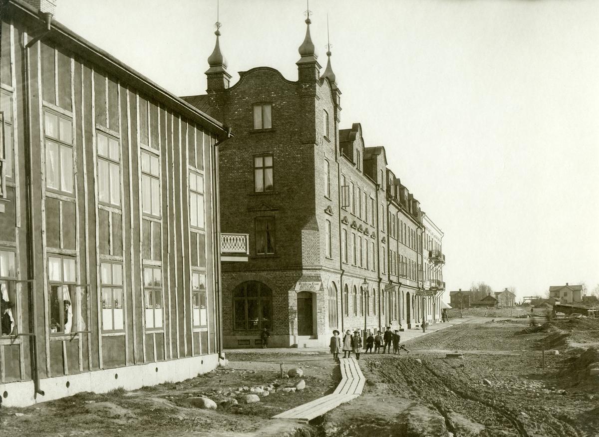 Den blivande Herrhagsgatan söderut i höjd med Bergslagsgatan år 1902.