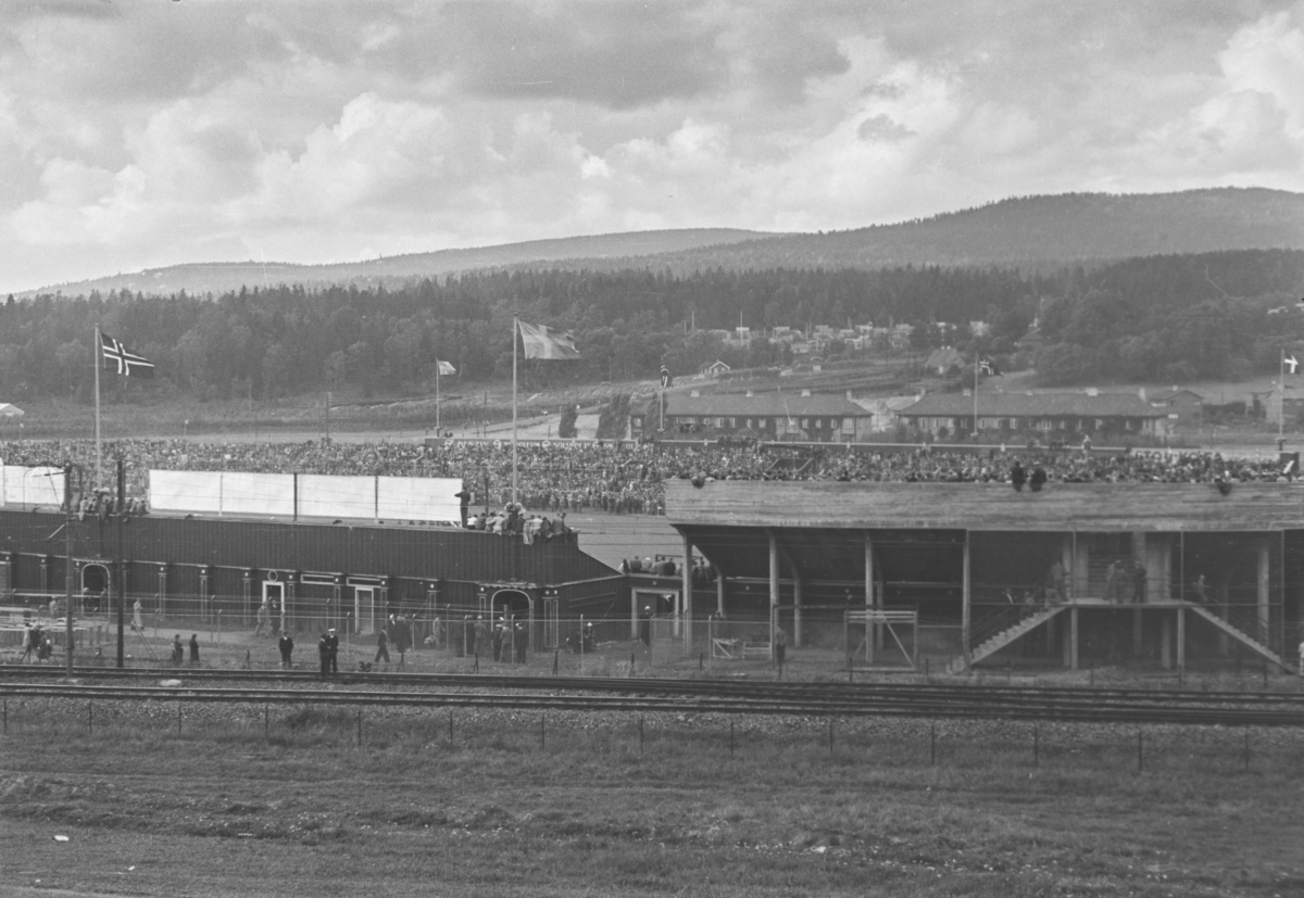 Ullevål stadion. Landskamp Norge-Sverige. Norge vant 2-1