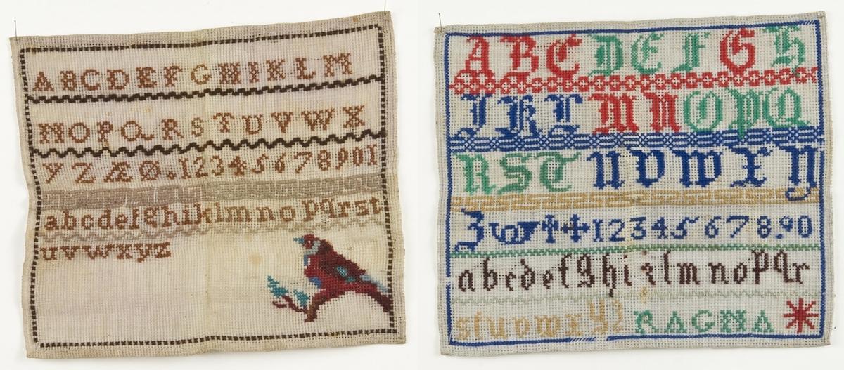 """Alfabetet i store og små bokstaver og tallene 1-10. FHM.10144.B også """"RAGNA"""""""