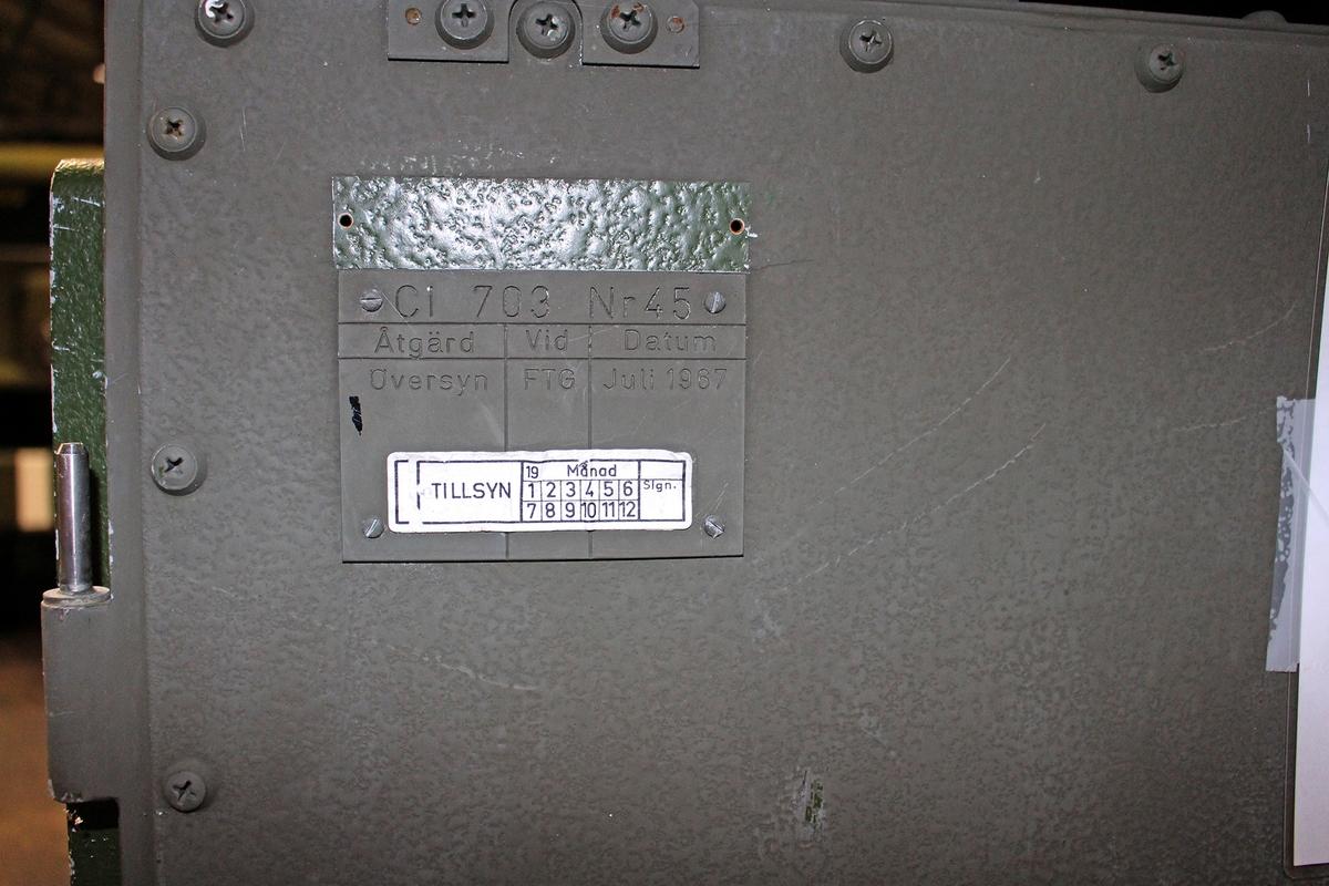 Ursprungsbenämning: KT 901 Data: Avstånd (Av) Mst – mål300 – 11 400 m Bäring (Bä) Mst – Mål0 – 6300 streck Höjdvinkel- 10o - +90o Horisontalfart0 – 430 m/sek Vertikalfart- 430 - +240 m/sek Skjuttid0,2 – 11,5 sek Uppsättning-10o - +90o Parallax i X-led och Y-led± 570 m Parallax i Z-led± 105 m, Vindstyrka i X- och Y-led± 32 m/sek Temperatur- 25o - +35o ?Vo± 100 m/sek Observationskorrektion höjdvinkel± 30 streck Observationskorrektion  sidvinkel± 30 streck Observationskorrektion längd± 950 m Underhållsvänlig3-4 på 5-gradig skala