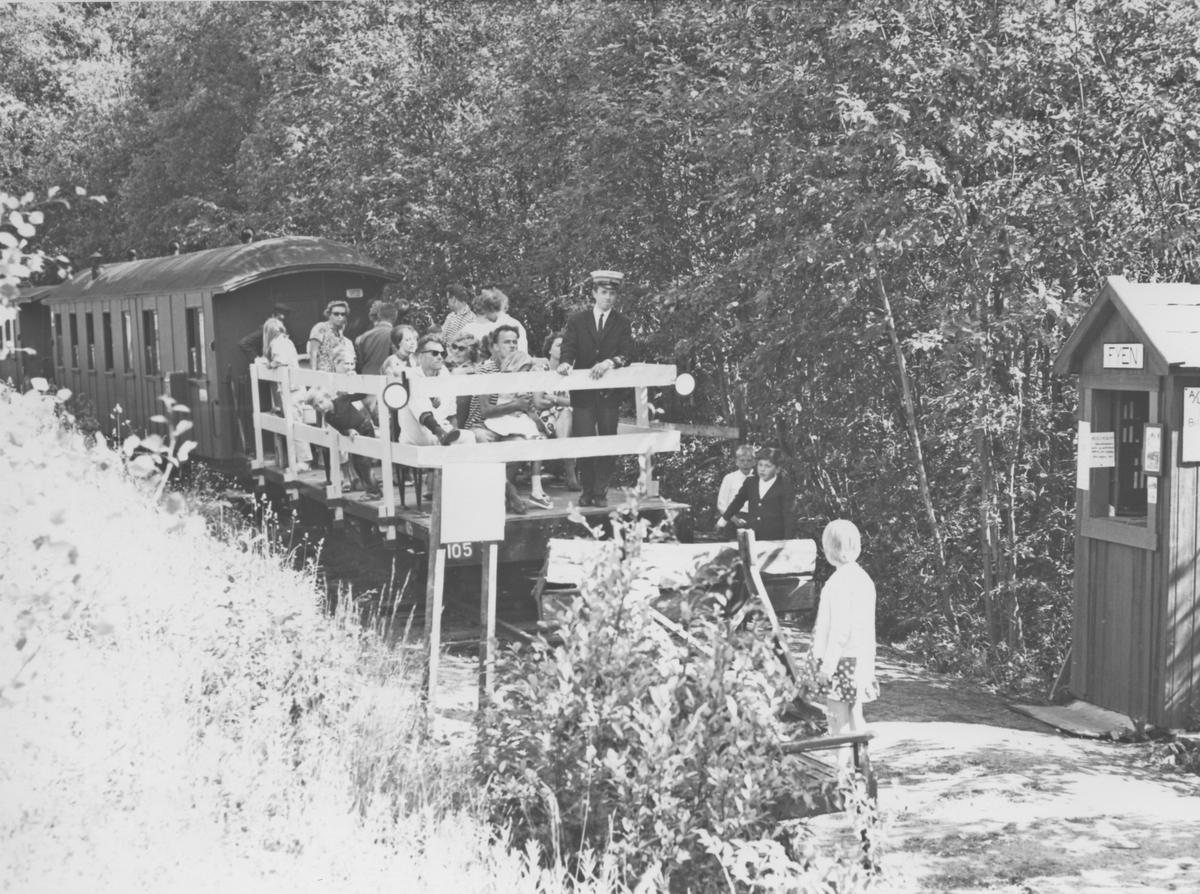 Fra museumsbanen Urskog-Hølandsbanens midlertidige endestasjon ved Presterud