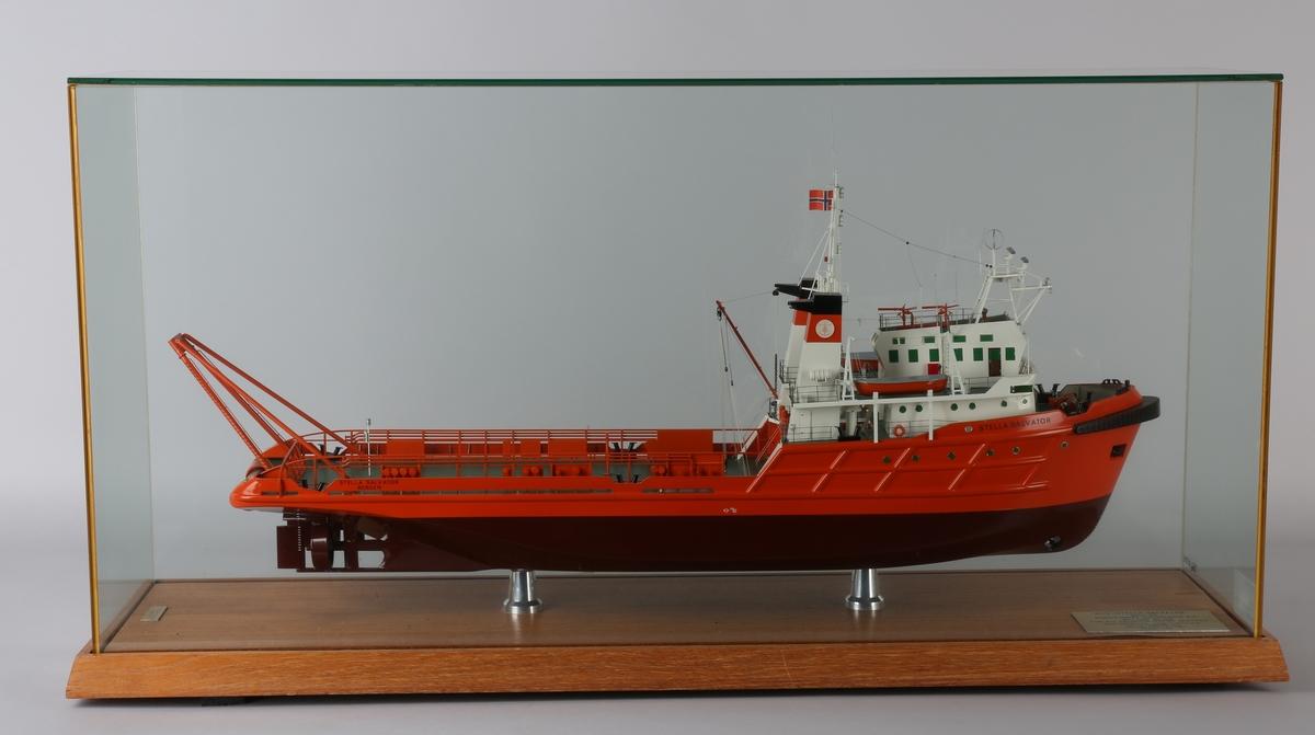 Helmodell av bjergnings-/slepebåten STELLA SALVATOR.